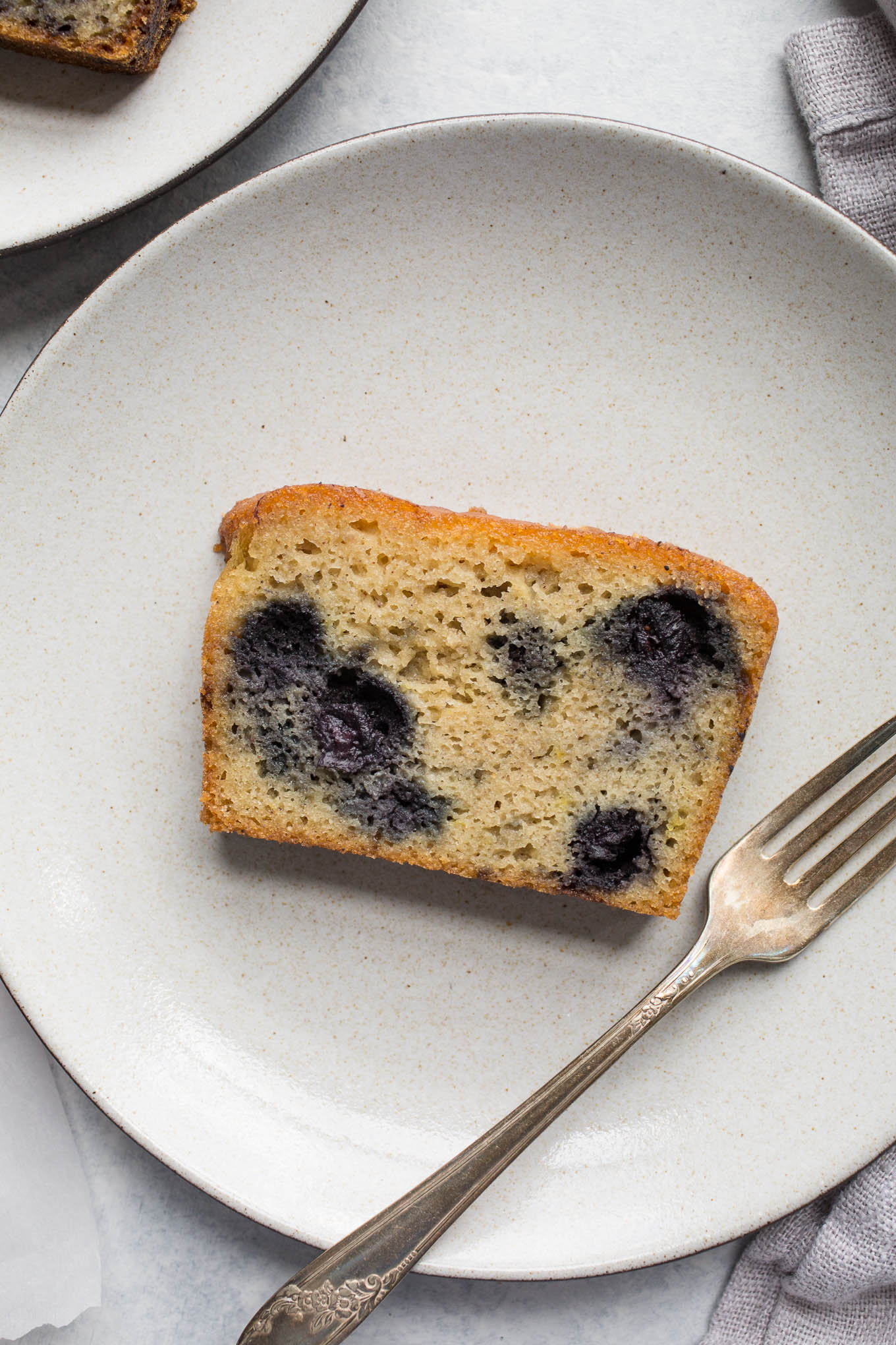 blueberry cake on plate
