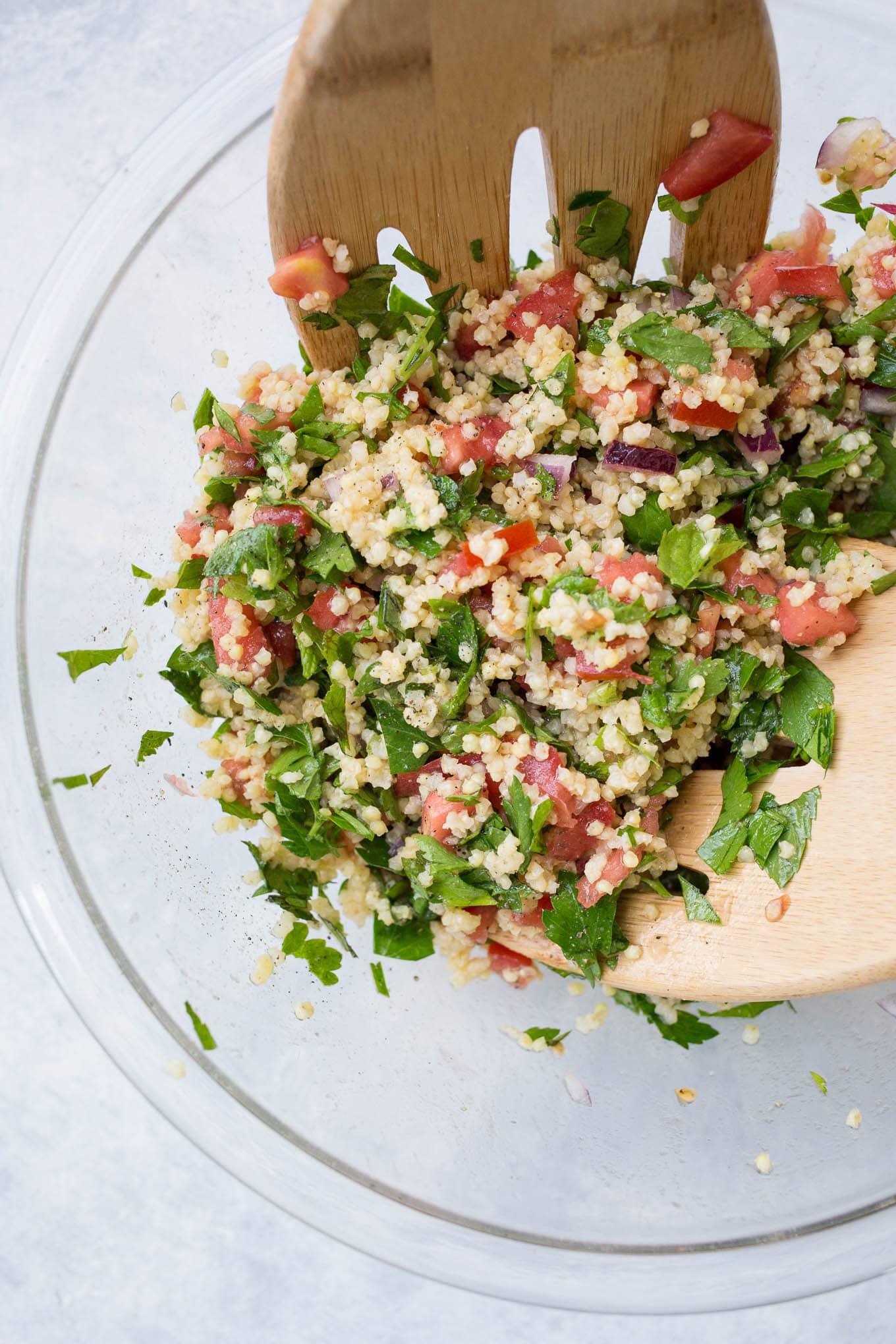 Millet Tabbouleh Salad (Gluten-Free, Vegan) | saltedplains.com