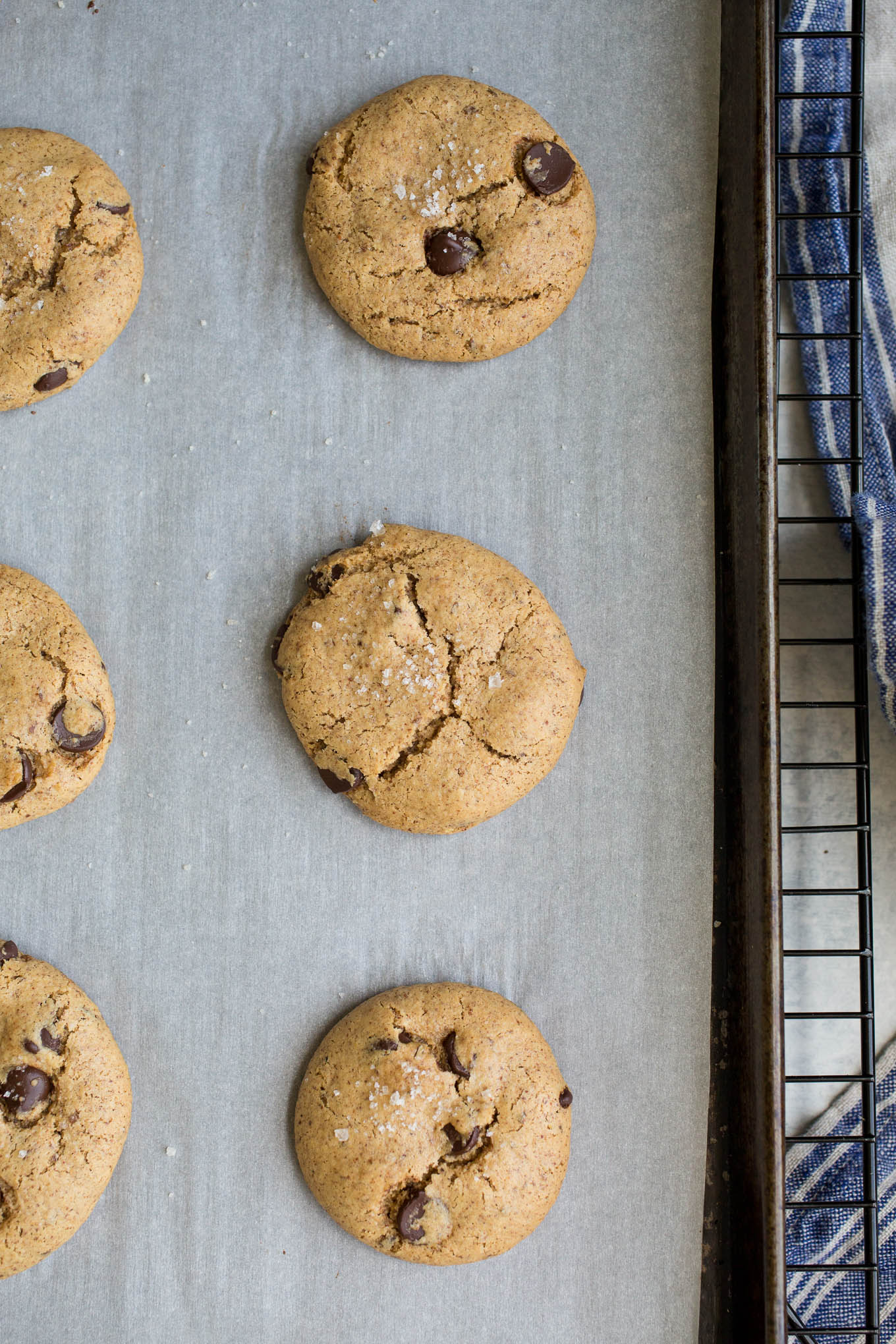 Almond Butter Chocolate Chip Cookies Recipe (gluten-free, vegan, refined sugar-free)