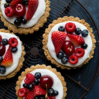 Fruit and Yogurt Granola Tarts (gluten-free, vegan)