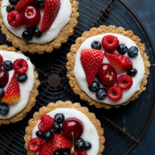 Fruit and Yogurt Granola Tarts (gluten-free, vegan)