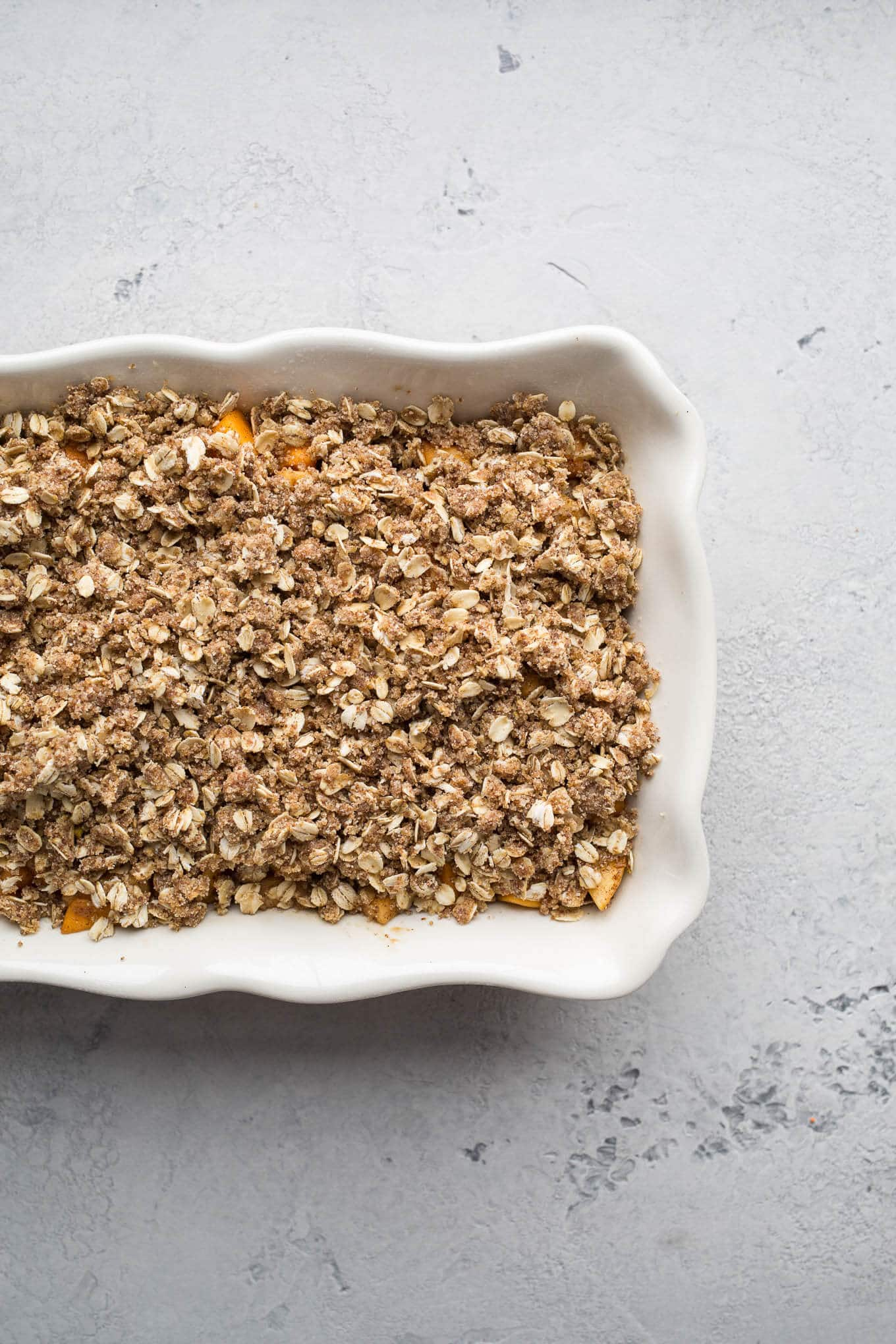 Apple Butternut Squash Crisp is an easy dessert that comes together in no time. Gluten-free, vegan, refined sugar-free.