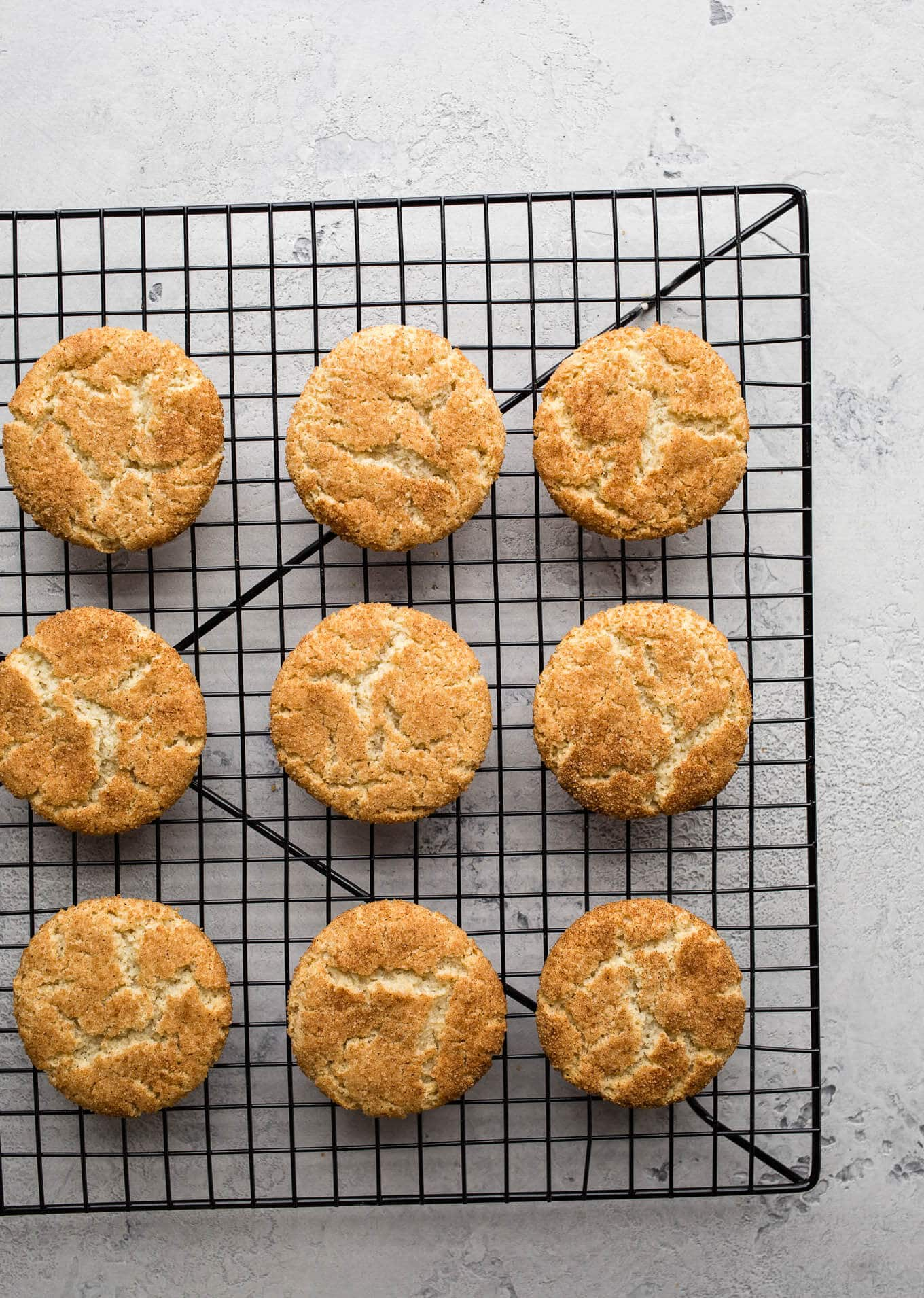 Gluten-Free Snickerdoodles made with almond flour for a soft and chewy cookie! Dairy-free.