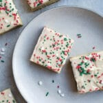 Easy Sugar Cookie Bars for any occasion. Made with wholesome almond and coconut flours. Gluten-free, vegan.