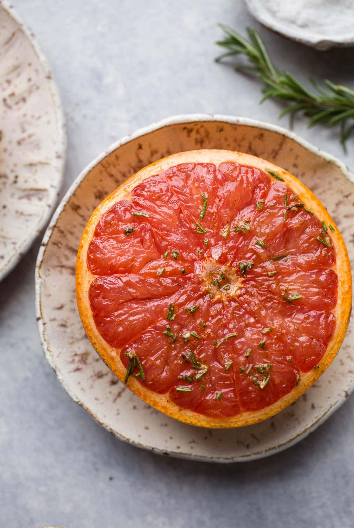 Broiled grapefruit with maple syrup
