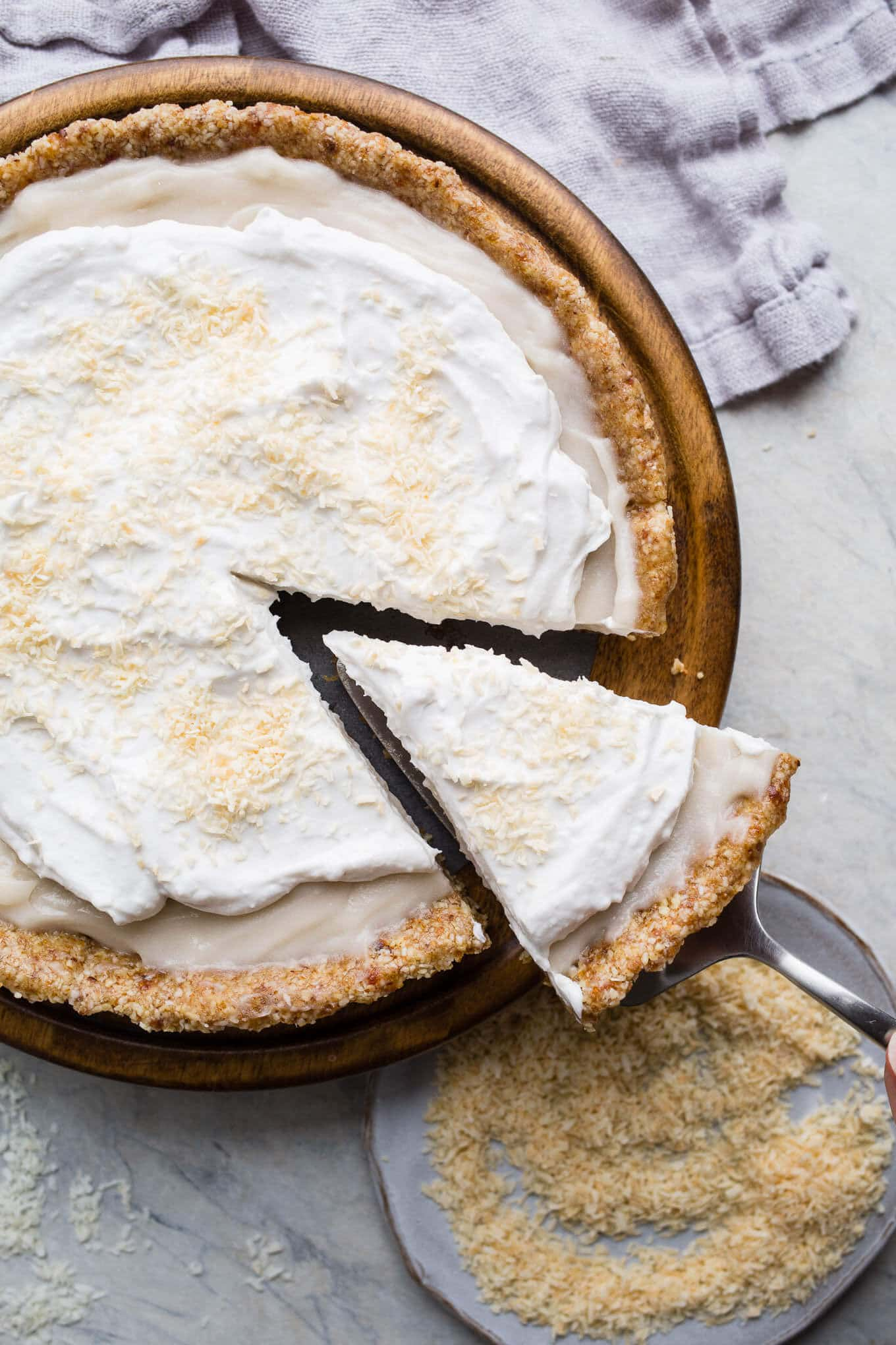 No Bake Coconut Cream Pie Gluten Free Vegan Salted Plains