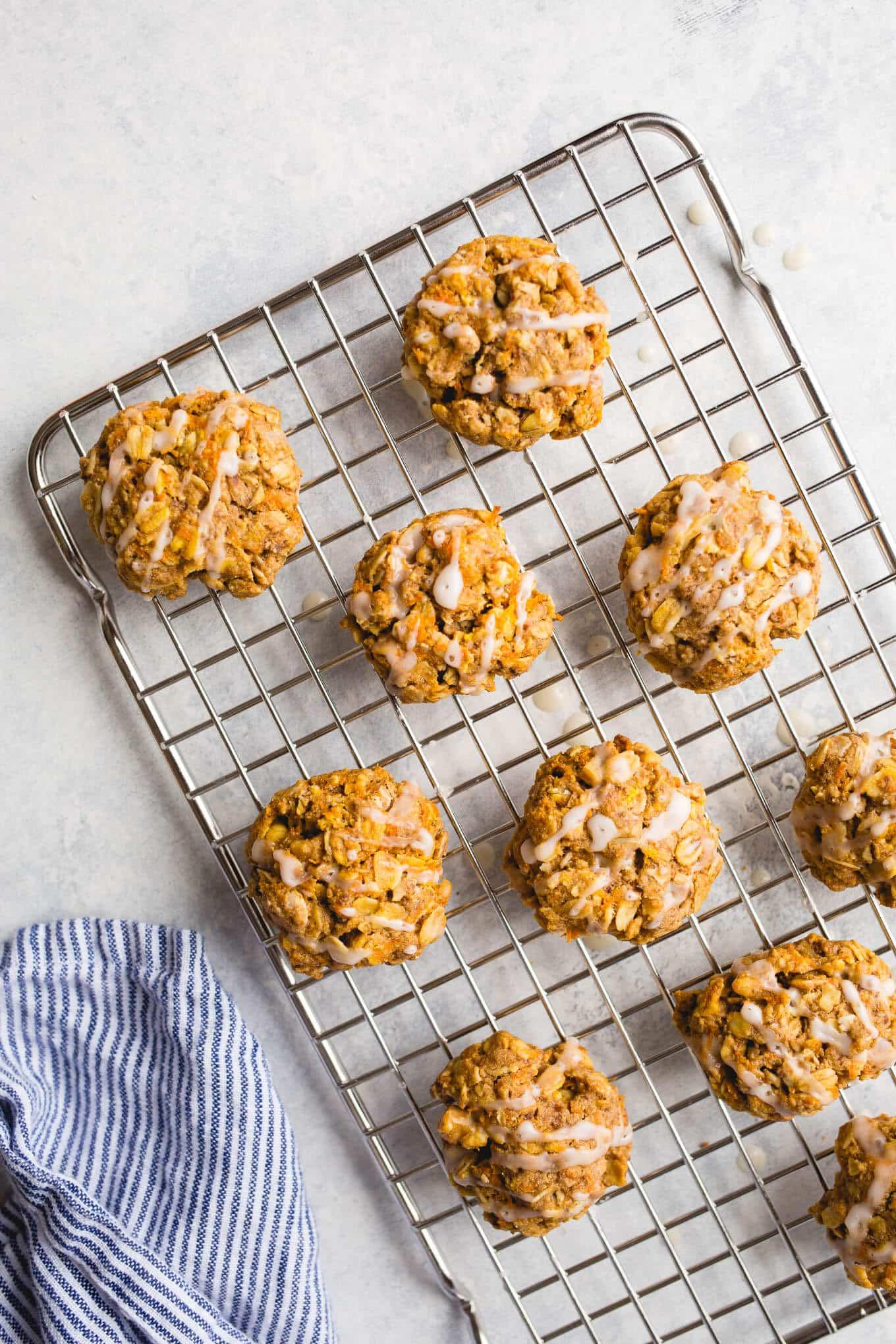Vegan Carrot Cake Oatmeal Cookies