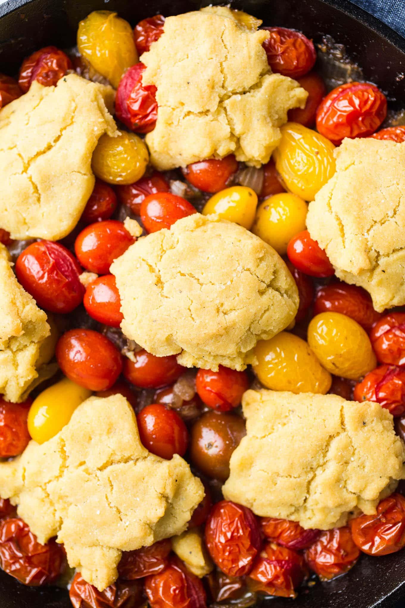 Gluten-Free Tomato Cobbler