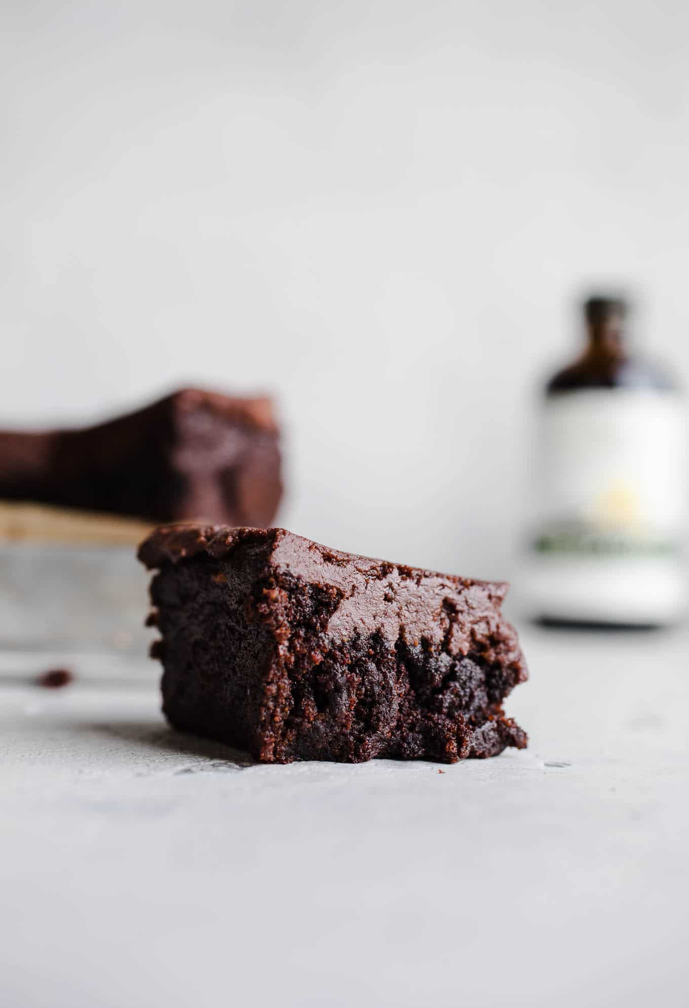 Easy Sweet Potato Brownies made with 5 ingredients for a decadent, healthier brownie. Gluten-free, vegan, refined sugar-free.