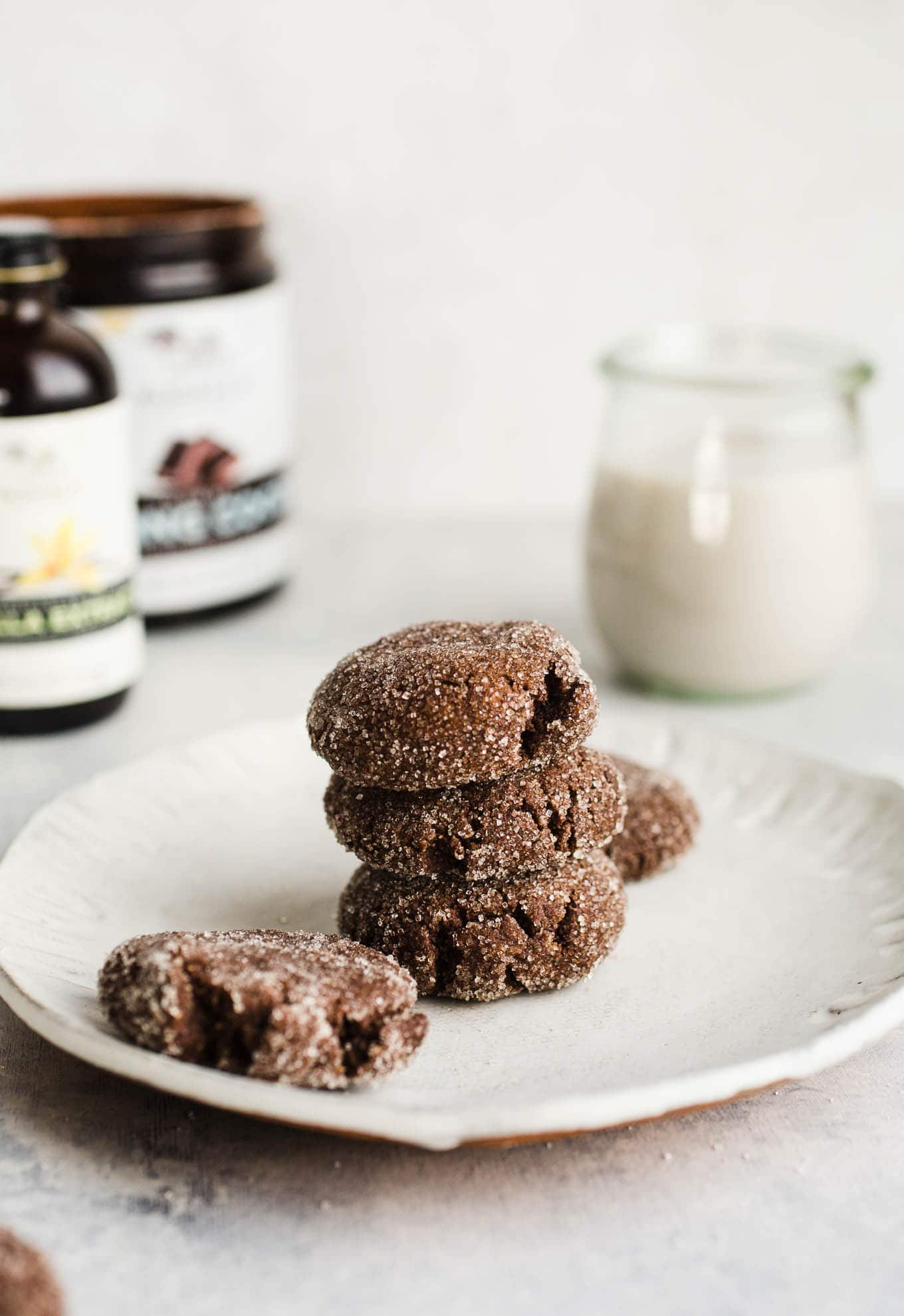 A combination of cocoa, almond flour, vanilla, and molasses make these Chewy Chocolate Molasses Cookies soft and delicious. An easy gluten-free, vegan cookie!