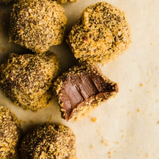 Gingerbread Truffles made with 3 ingredients for a delicious gluten-free and dairy-free gingerbread dessert recipe.