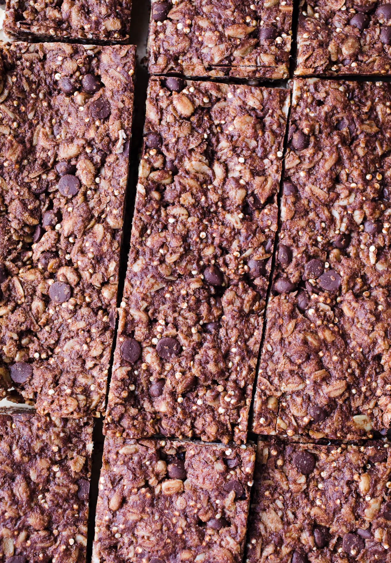 sliced baked granola bars