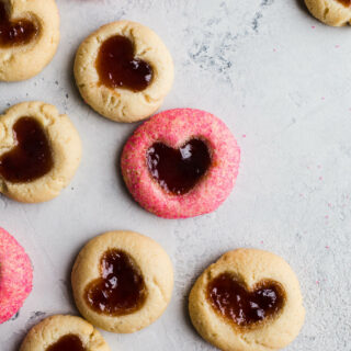 Double Thumbprint Heart Cookies (Gluten-Free, Vegan)