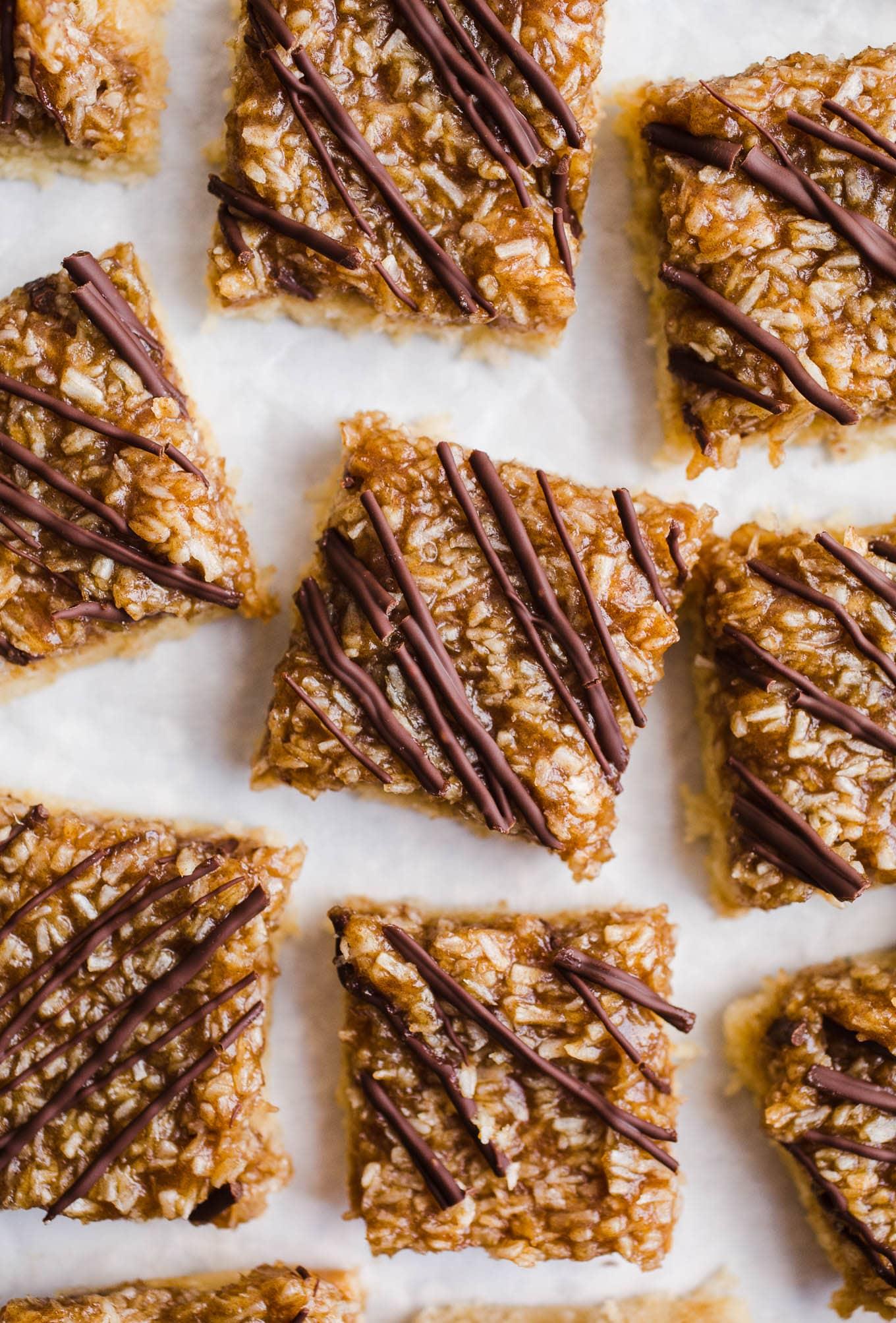 Healthy Samoas Cookie Bars