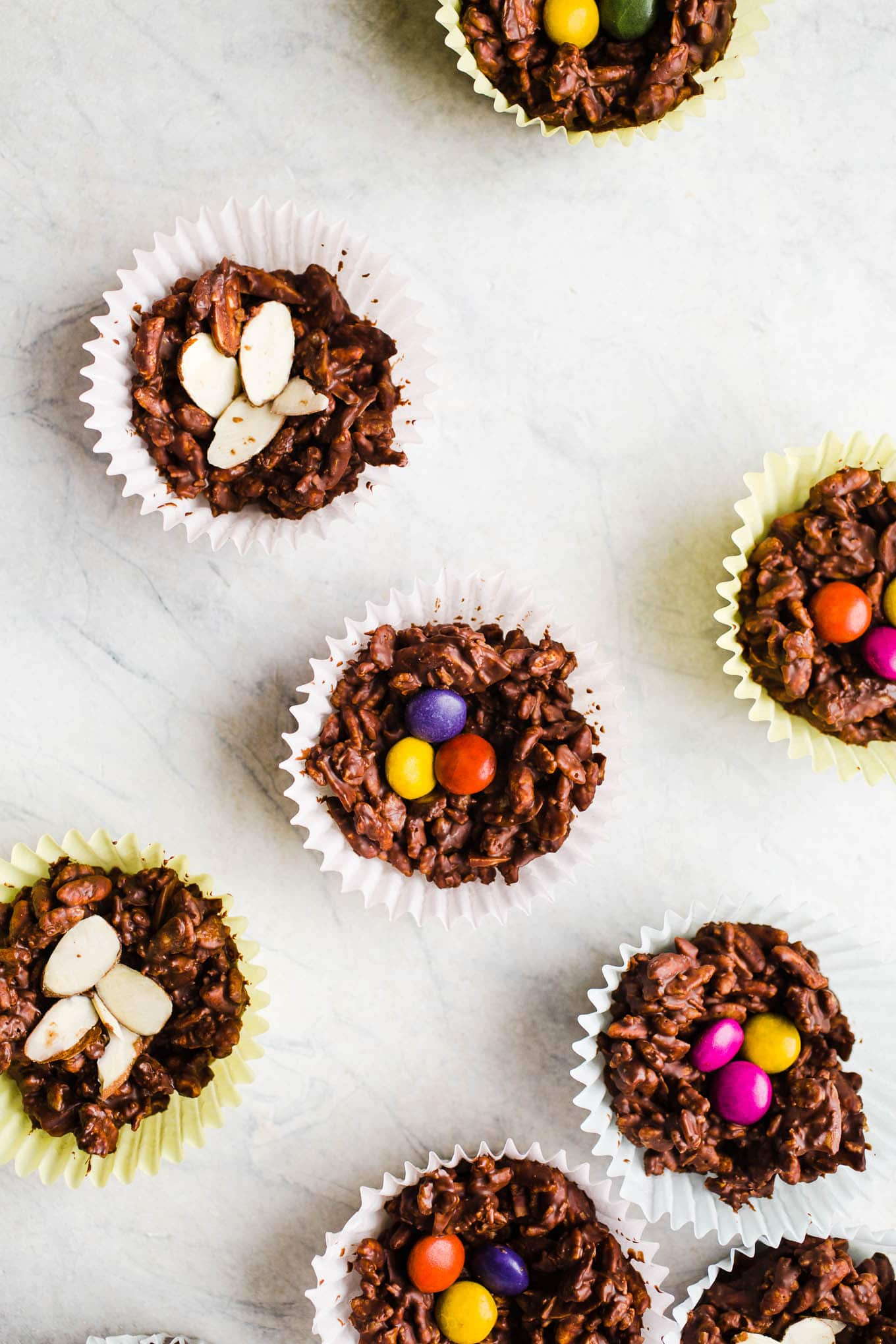 No-Bake Chocolate Bird Nests