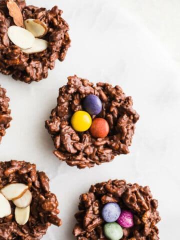 No-Bake Chocolate Bird Nests