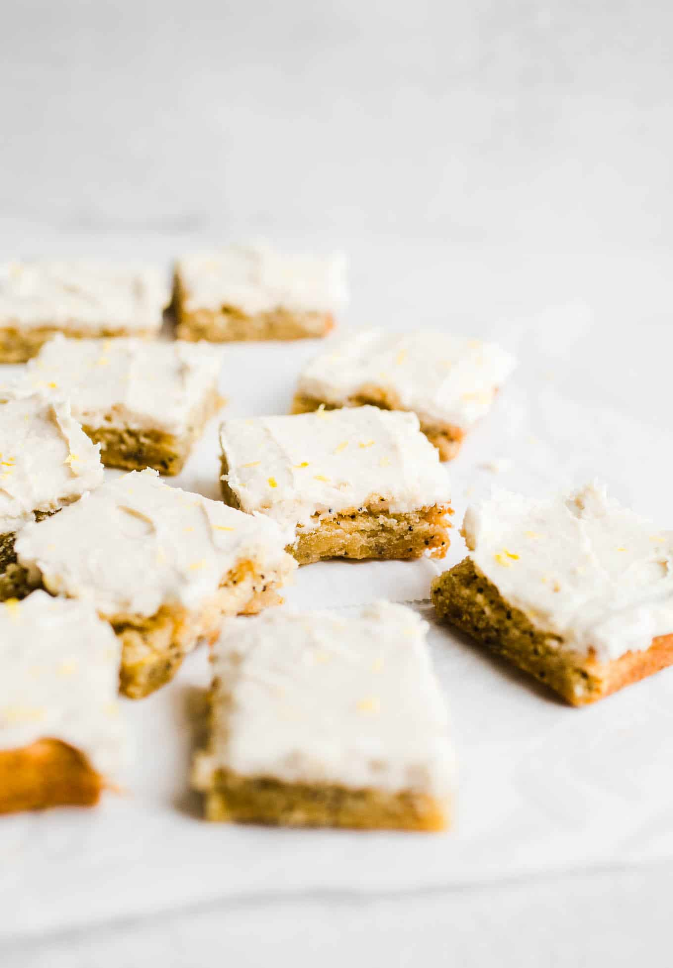 lemon snack cake with frosting