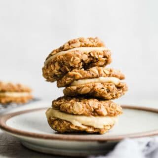 Gluten-Free Vegan Oatmeal Cream Pies