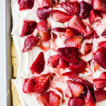 Sheet Pan Strawberry Shortcake