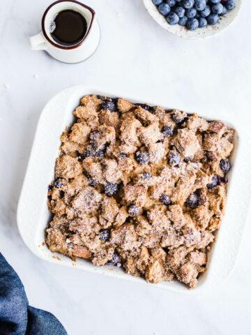Vegan Blueberry French Toast Casserole