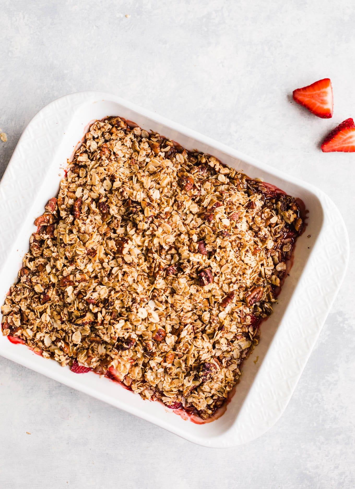 Baked Strawberry Crisp