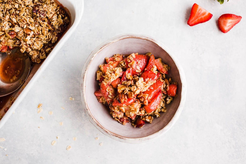 Vegan Gluten-Free Strawberry Crisp