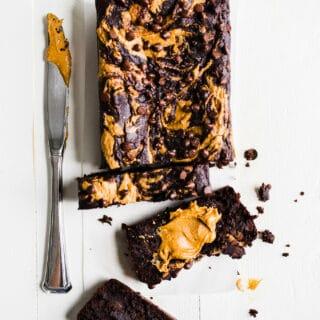 Gluten-Free Peanut Butter Chocolate Banana Bread