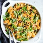 Sweet Potato Salad with Arugula and Millet