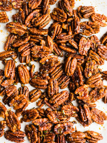 Spiced Rosemary Maple Pecans