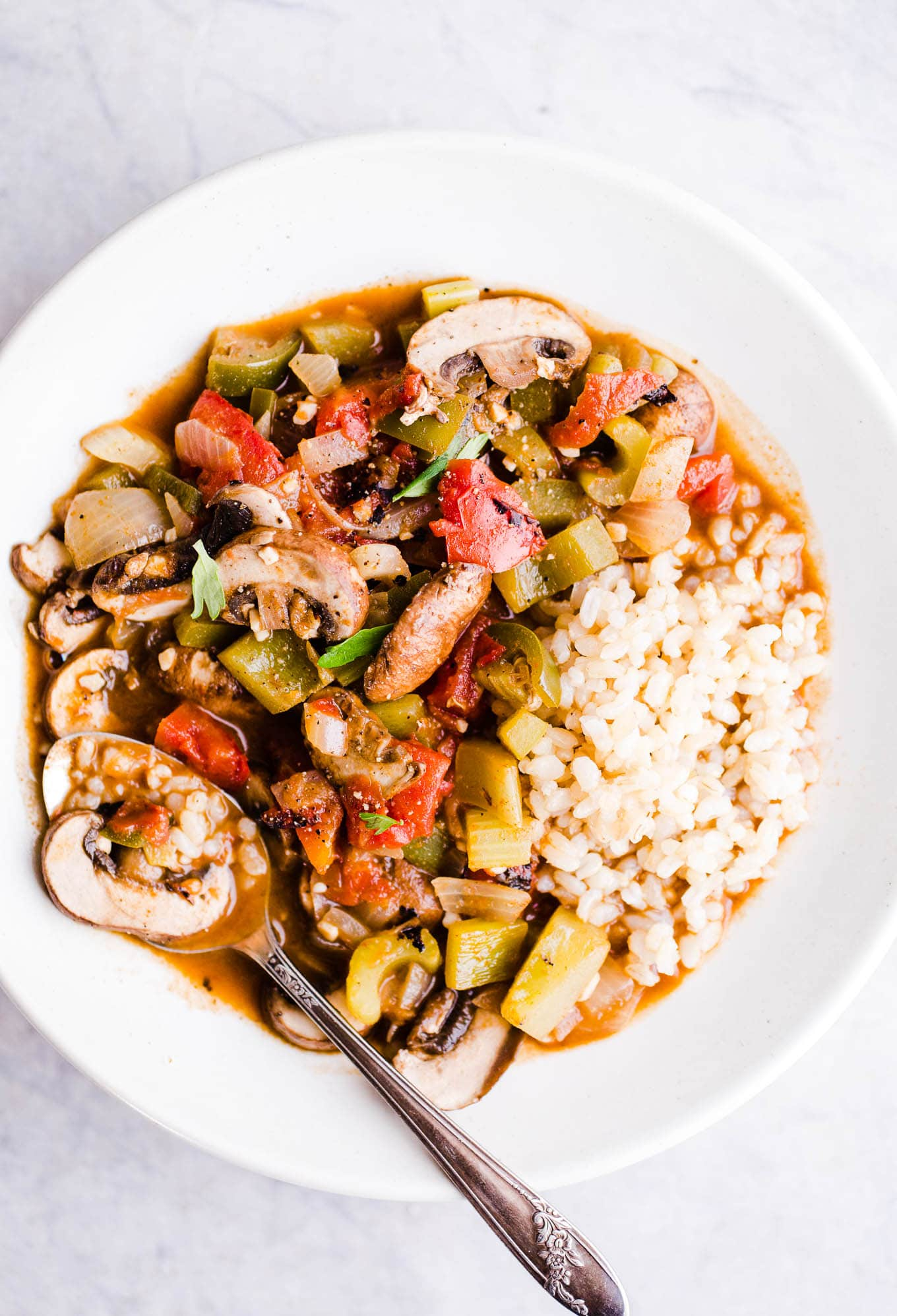 Vegetable Étouffée with Brown Rice