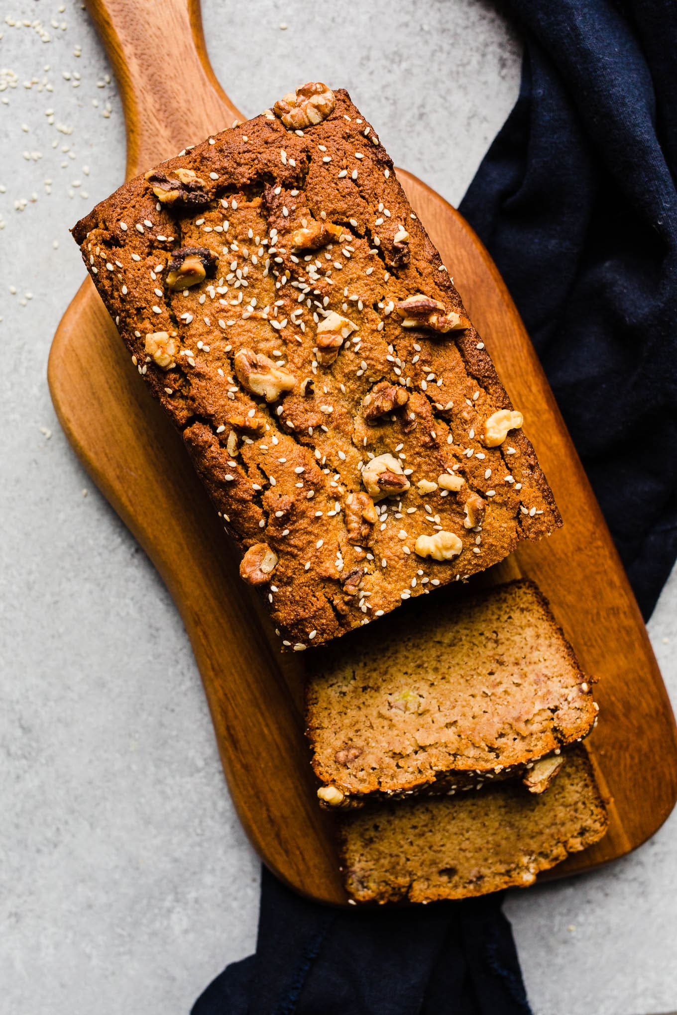 Tahini banana bread