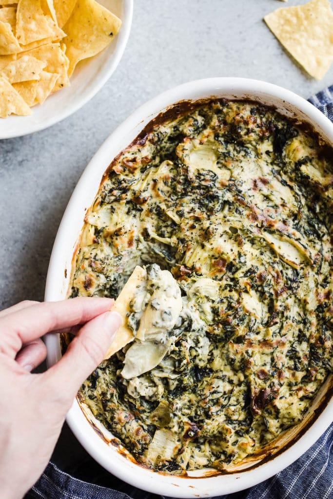 Baked Vegan Spinach Artichoke Dip