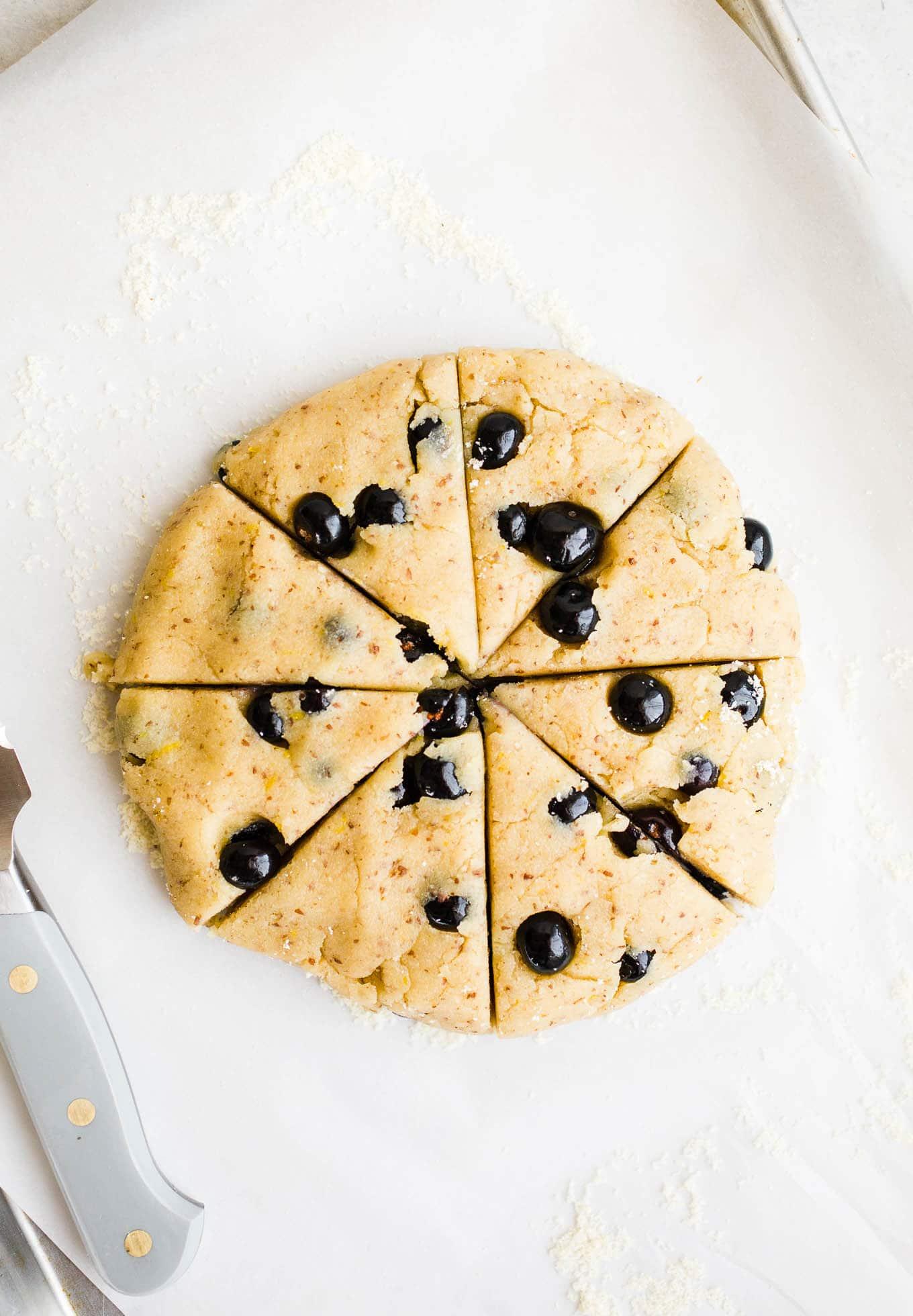 blueberry scone dough
