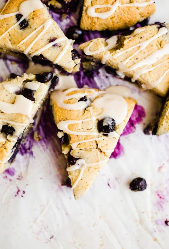 Almond Flour Lemon Blueberry Scones
