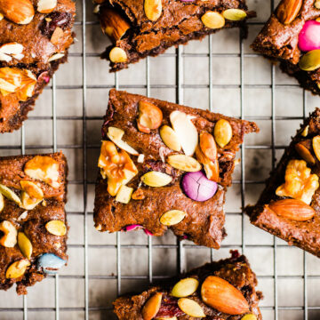 Brownies with trail mix