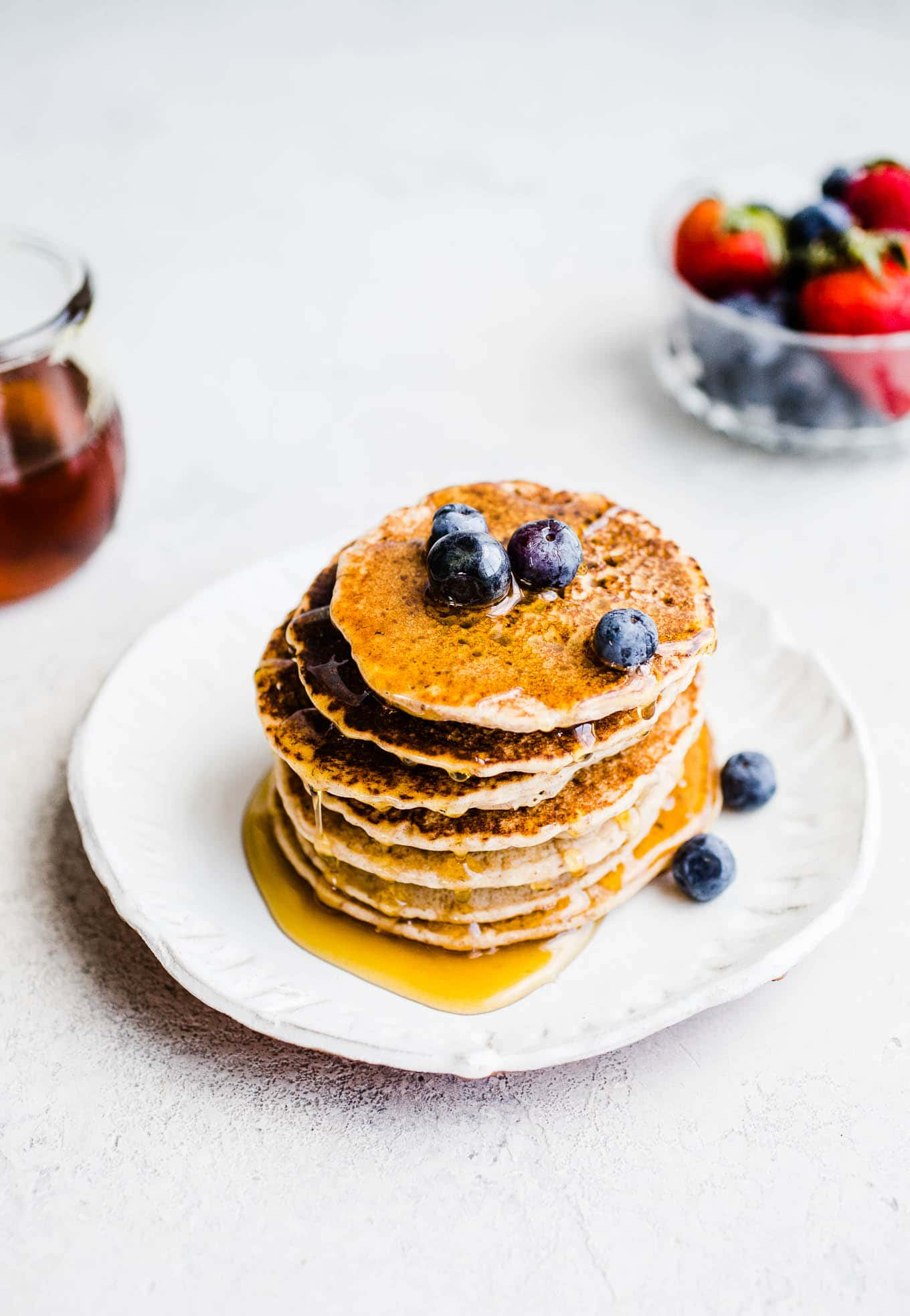 Buckwheat pancakes with syrup