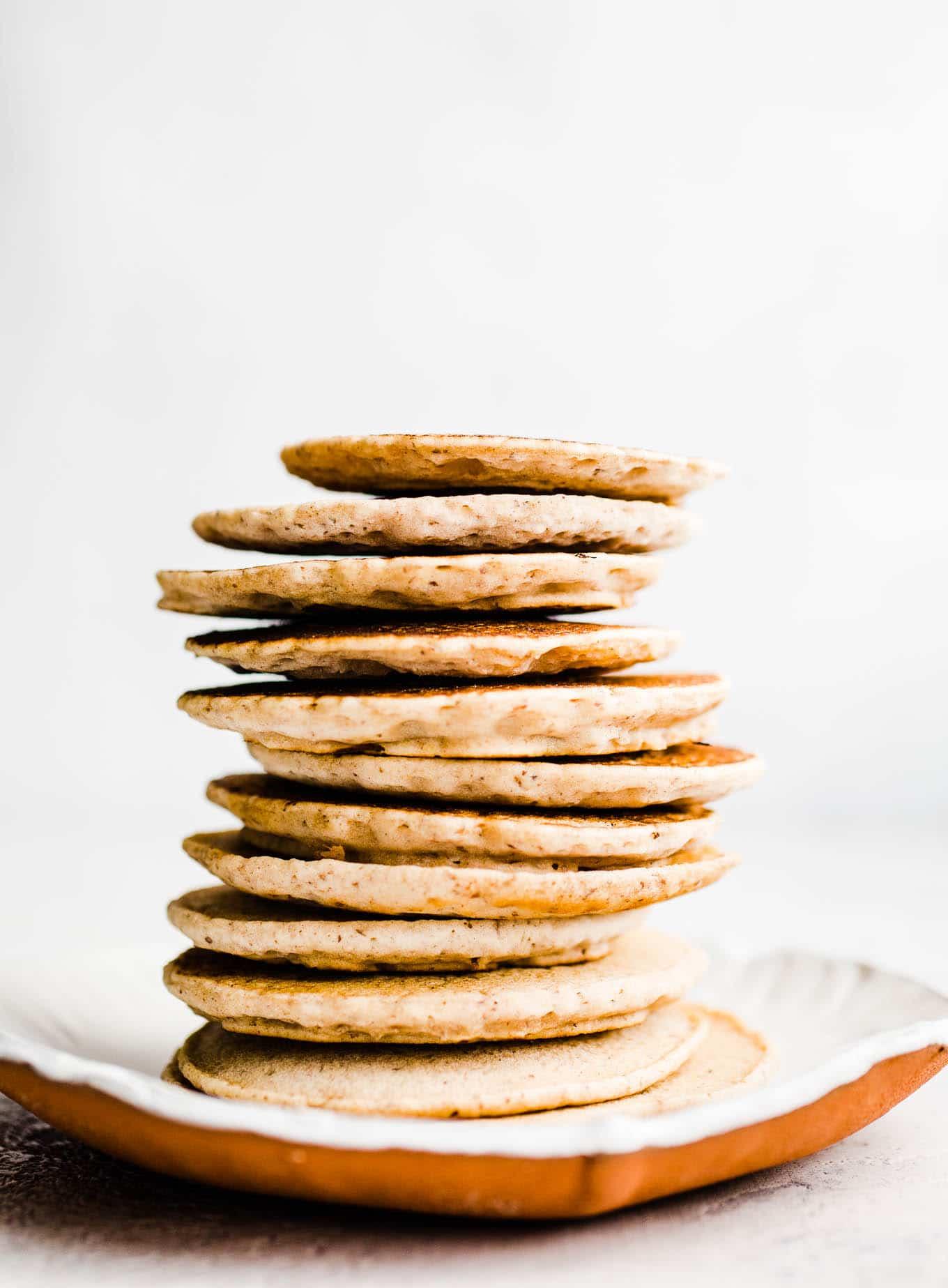 Buckwheat pancakes stack