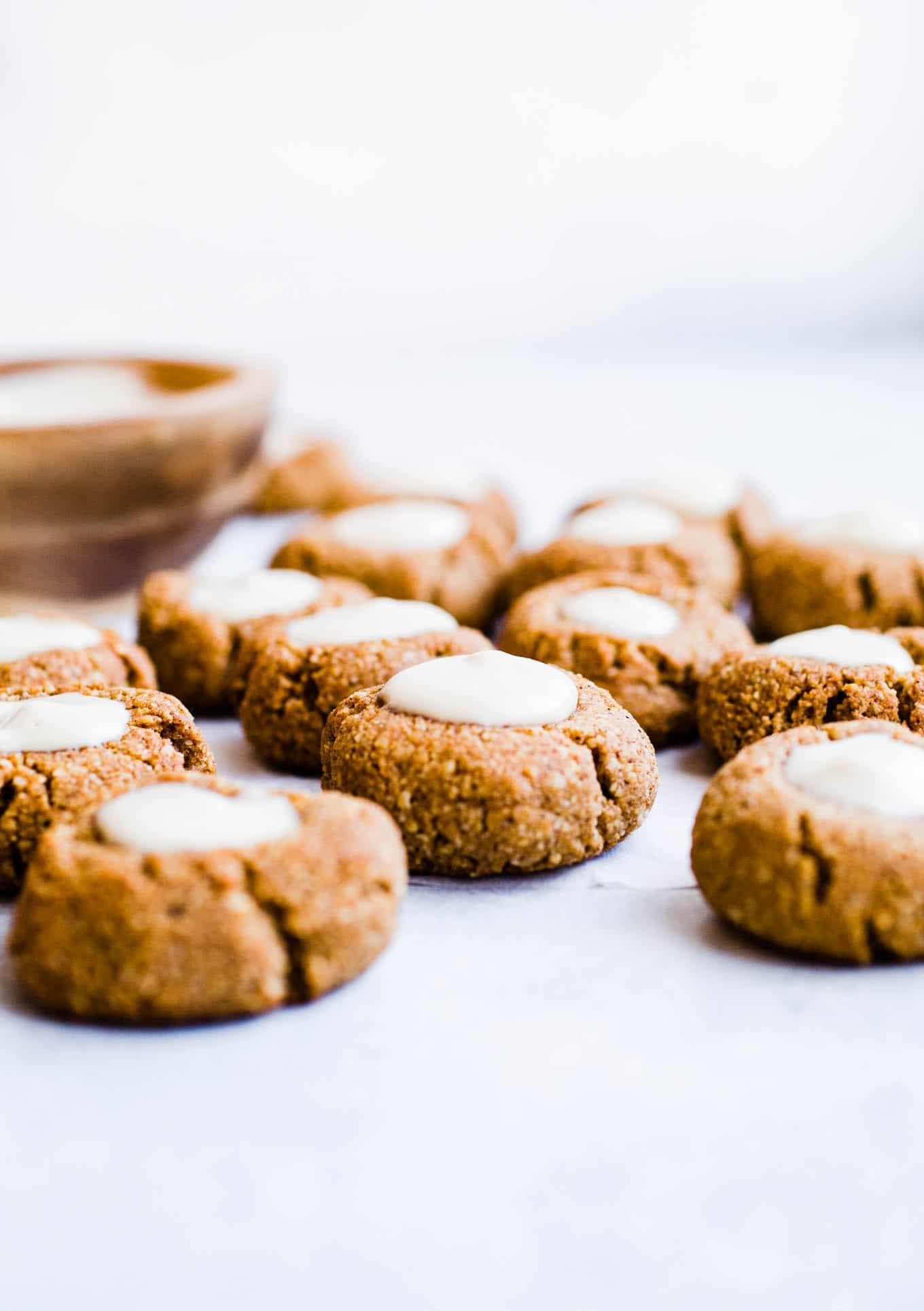 gingerbread thumbprints