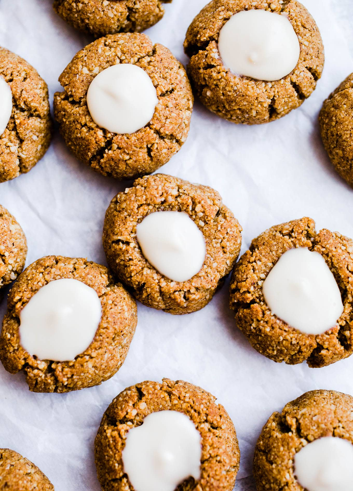 thumbprint cookies with cream cheese frosting