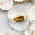 coconut golden milk cups with almond butter centers
