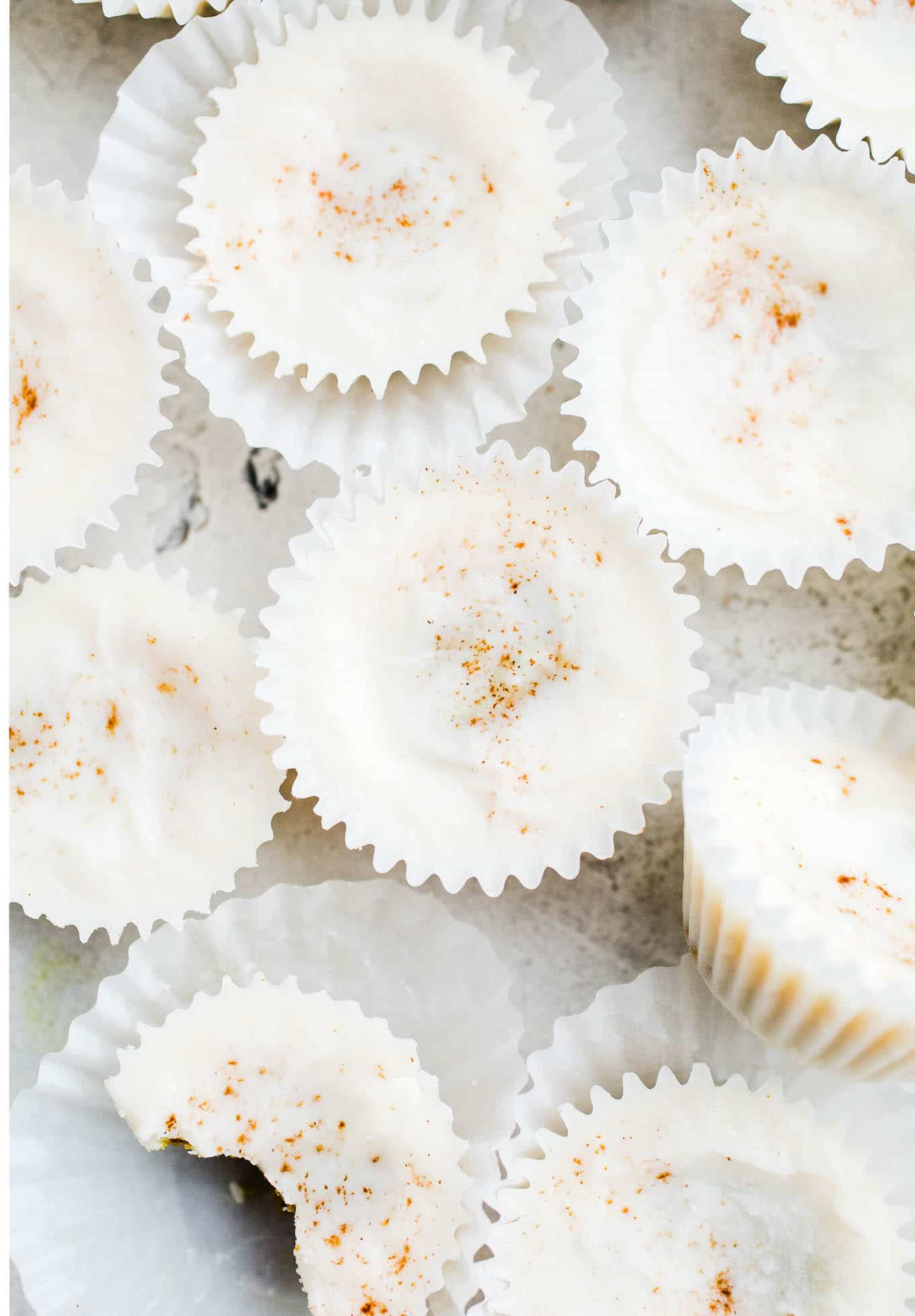 coconut butter cups in wrappers