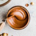 chocolate hazelnut spread in a jar