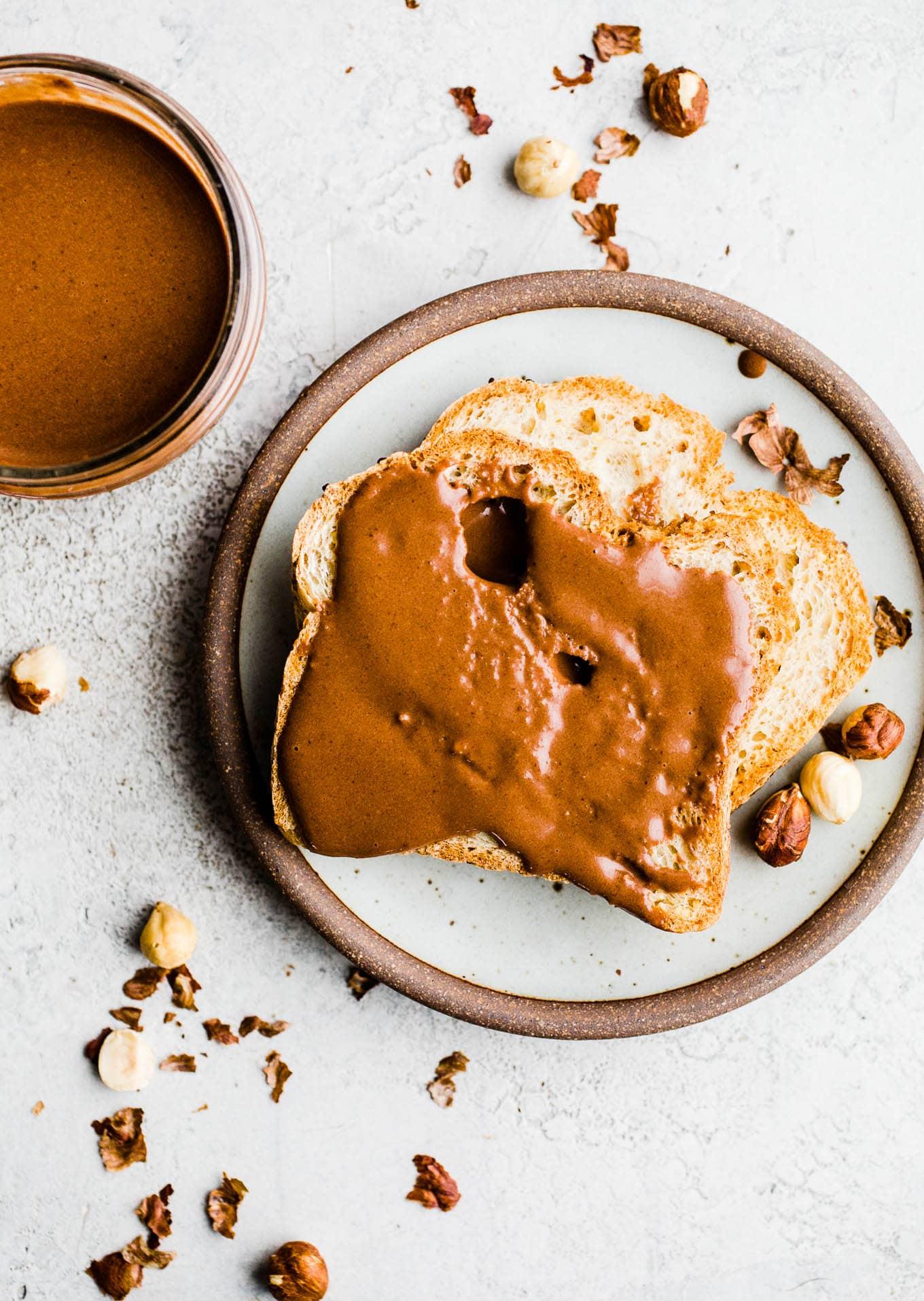homemade Nutella on toast