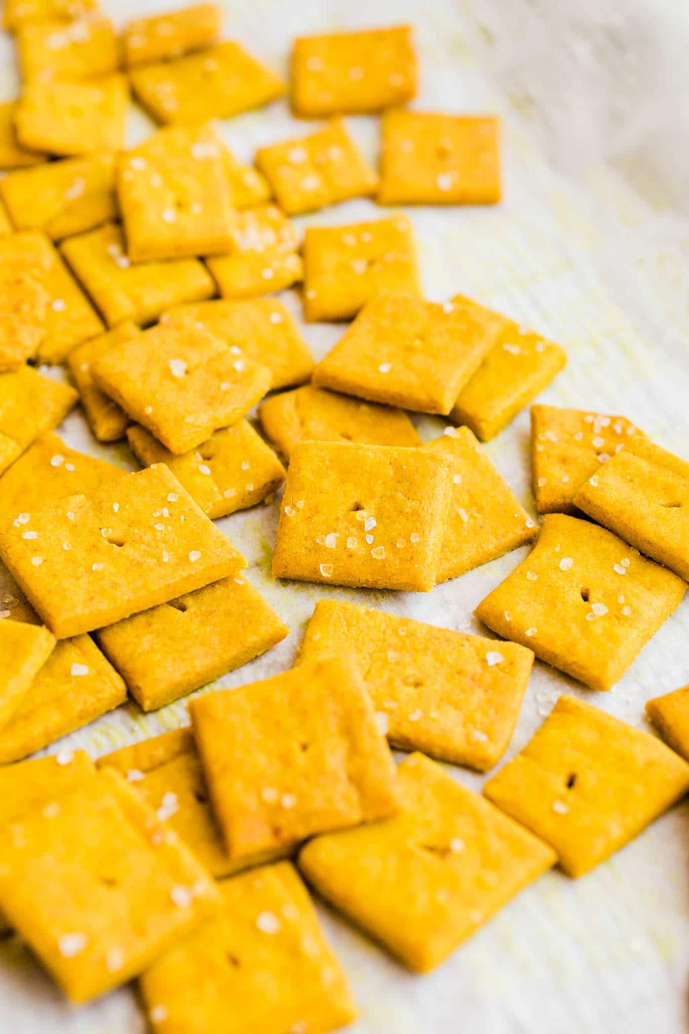 gluten-free vegan cheese crackers