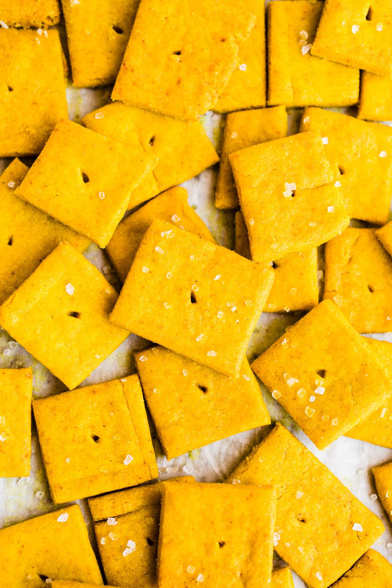 homemade cheez-its with salt