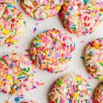 funfetti cookies with rainbow sprinkles