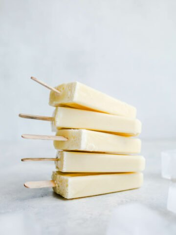 creamsicles stacked next to ice cubes