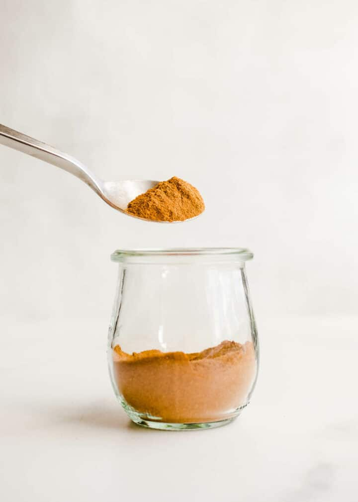 homemade pumpkin spice in jar