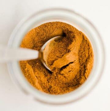 pumpkin pie spice in a jar